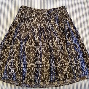 Mossimo circle skirt in black and cream
